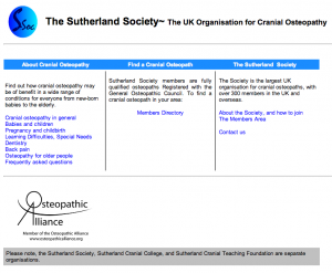 The Sutherland Society  the UK organisaton for cranial osteopathy